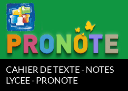 Cahier de texte - Notes - Pronote